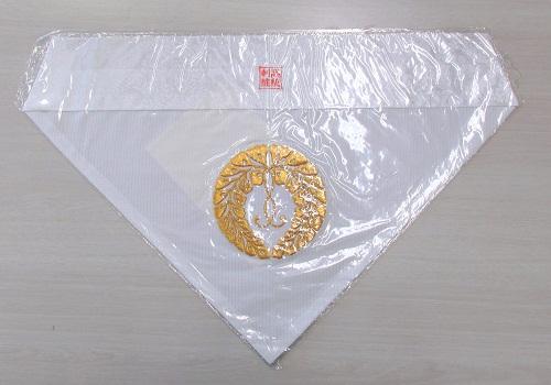 ★夏用三角打敷 呂 西紋刺繍入 150代 浄土真宗本願寺派(西)用