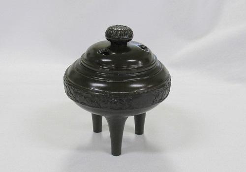 ★高級伝統美術 香炉 菊唐草 ニイロ