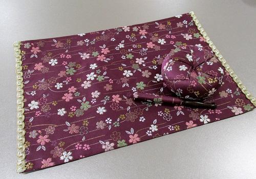 ★リン布団・リン棒・経机敷セット 美桜 紫