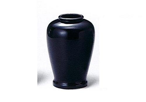 ◇黒無地 夏目花瓶 6.0寸 一対(2本入)