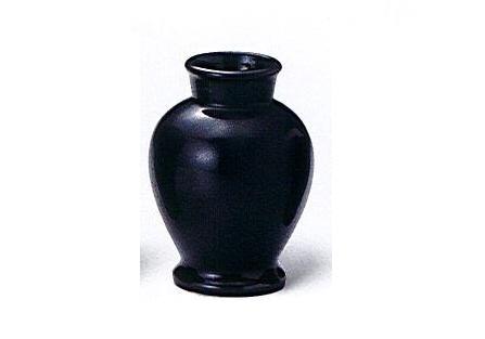 ◇黒無地 夏目花瓶 5.0寸 一対(2本入)