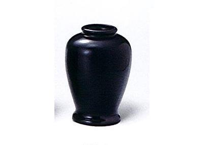◇黒無地 夏目花瓶 4.5寸 一対(2本入)