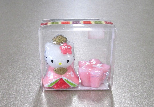 ●ハローキティ ひな祭りキャンドル おひなさま 【カメヤマ】