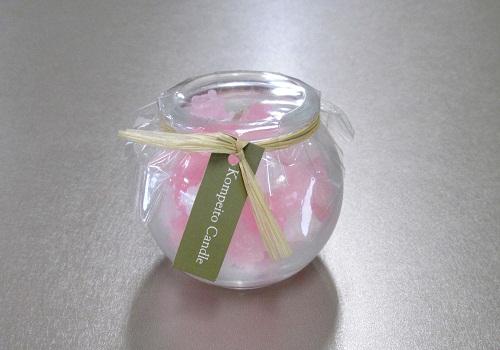 ●こんぺいとうキャンドル ピンク 【カメヤマ】