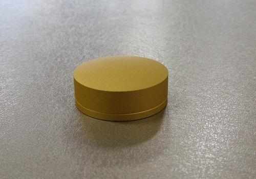 □手元供養 携帯できるミニ骨壺 with-s ゴールド ※在庫処分特価品