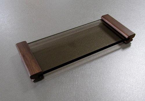 ◆ガラス仏器膳 ウォールナット 5.0寸