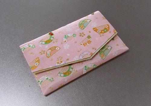 □念珠袋・数珠袋 ふたえ上錦 ピンク系