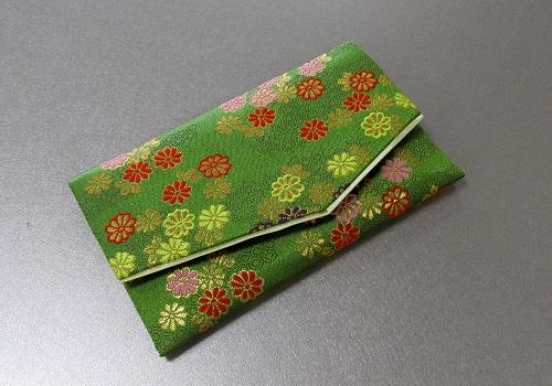 □念珠袋・数珠袋 ふたえ上錦 緑系