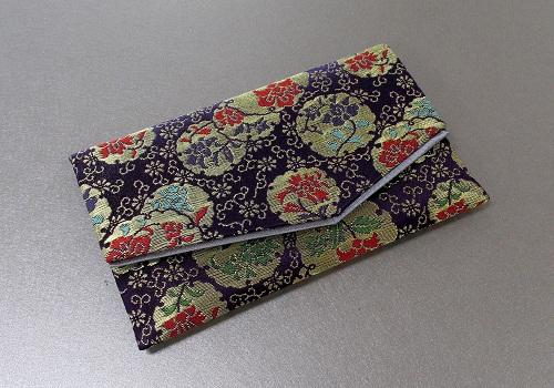 □念珠袋・数珠袋 ふたえ上錦 紫系