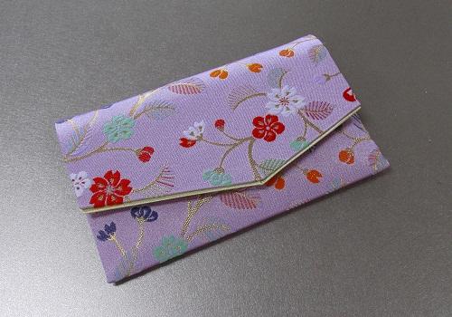 □念珠袋・数珠袋 ふたえ上錦 薄紫系