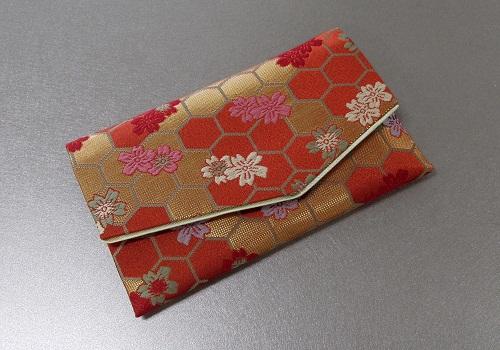 ○念珠袋・数珠袋 ふたえ上錦 赤・オレンジ系