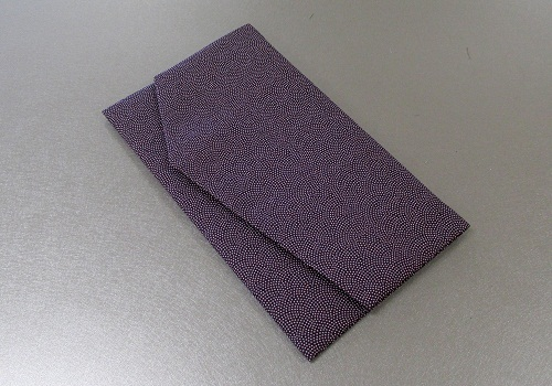 ○ふくさ・フクサ 一越鮫小紋金封ふくさ 紫