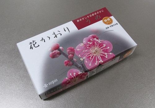 ★煙の少ないお線香 花かおり 梅 100g入