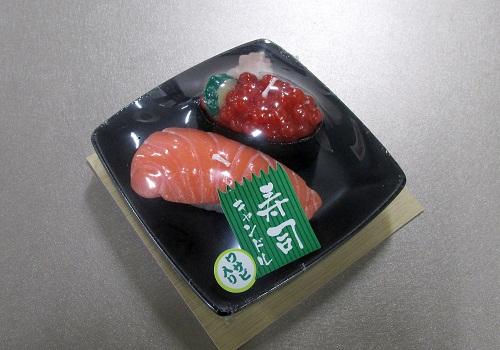 ■寿司キャンドルD サーモン・イクラ サビ入 故人の好物ローソク 【カメヤマ】