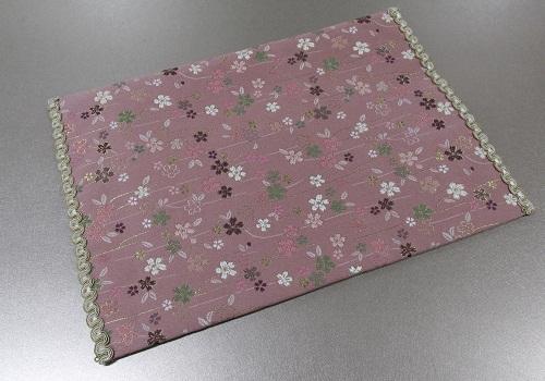 ◆防炎加工 経机掛・経机敷 16号 唐木型 美桜 ピンク