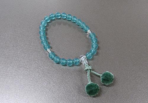 ●子供用念珠・数珠 お子様用おじゅず アクアブルー