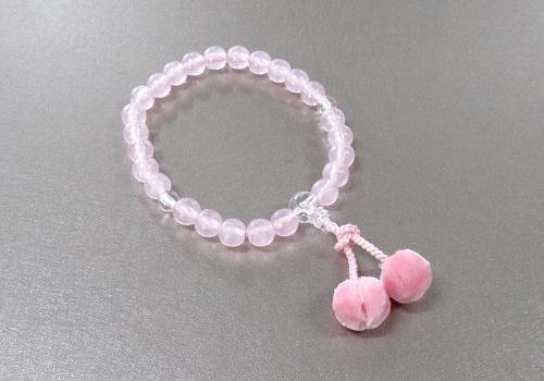 ●子供用念珠・数珠 お子様用おじゅず ピンク