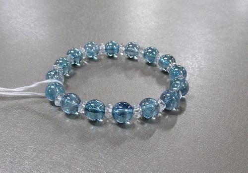 ◆ブレス アクアオーラ・水晶ソロバン