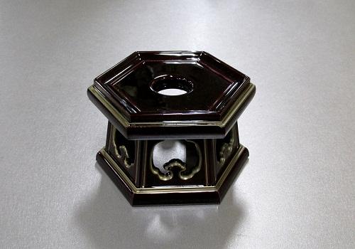 ★PC 六角リン台 溜面金 2.5寸