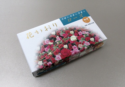 ◎煙の少ないお線香 花かおり ローズ 約220本入 【薫寿堂】