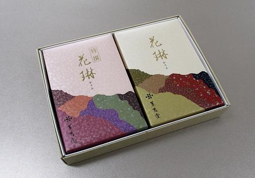 ■特選花琳・花琳 大バラ2箱詰合せ 紙箱入 【薫寿堂】