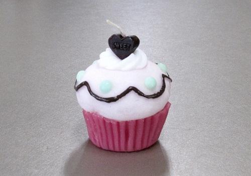 ◆カップケーキキャンドル チェリードット ※在庫限り