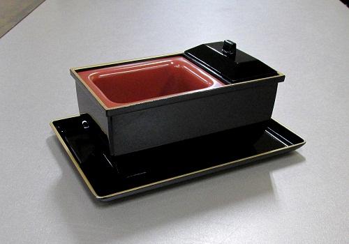 ★やすらぎ香炉5.0寸 黒フチ金+ 名刺盆 小 セット