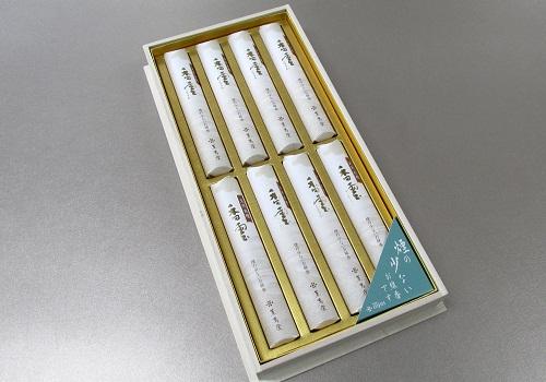 ◎進物用 煙の少ないお線香 天然白檀 香雲 短8入桐箱 【薫寿堂】