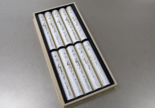 ■煙の少ないお線香 利休白檀 短10入桐箱 【奥野晴明堂】
