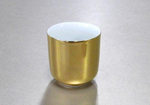 ▲湯呑 総金・惣金 1.5寸×1ケース(25ヶ)