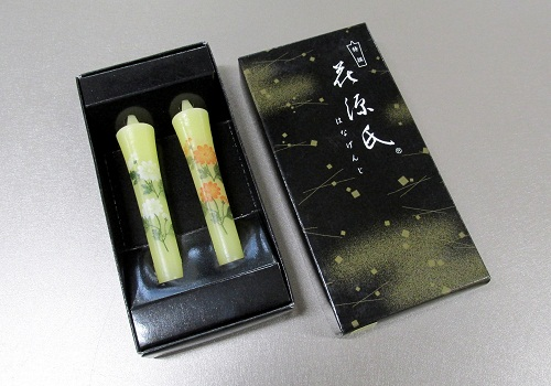 ◆絵ローソク 特選 花源氏 菊