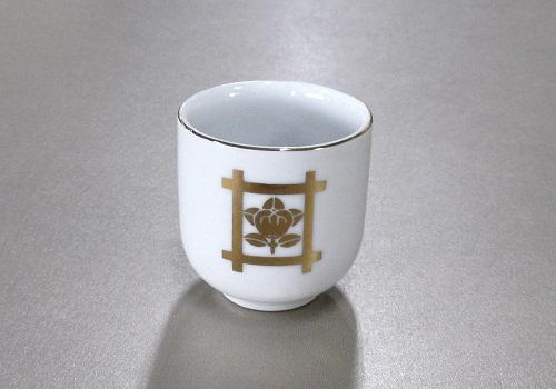 ◆湯呑1.5寸 井桁橘 (敬) ※訳アリ特価品
