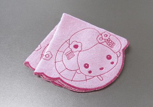 ○福が舞妓む 竹繊維はんかち ピンク