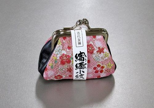 ●古代友禅 縮緬小紋 がま口財布