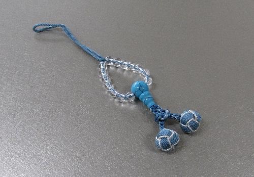 ○パワーストーンストラップ 花手毬 水晶トルコ