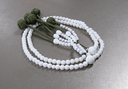 ◆法華用本連尺0 シャコ貝 共仕立 かがり梵天 日蓮宗108珠