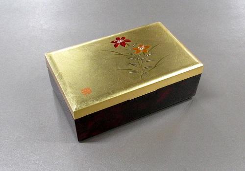 ◆金箔工芸品 銀河小箱 大 ゆり