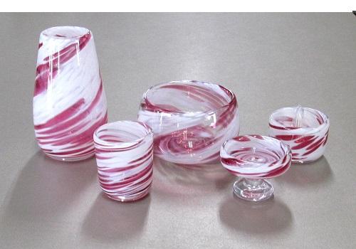 ●オリジナルガラス仏具 5具足 キャンディ