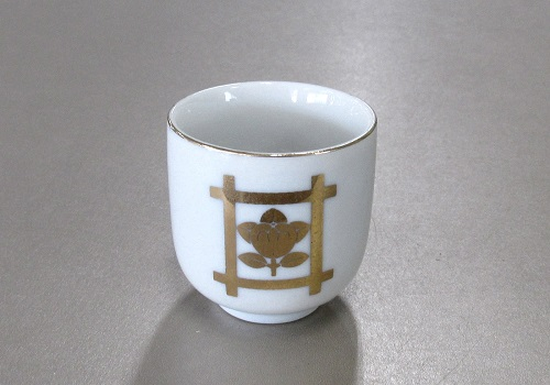 ◆湯呑1.6寸 井桁橘 (敬) ※訳アリ特価品