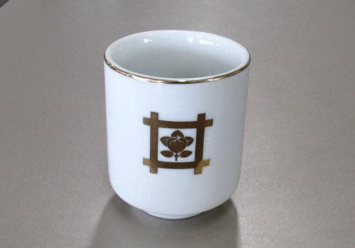 ◆湯呑2.8寸 井桁橘 (敬) ※訳アリ特価品