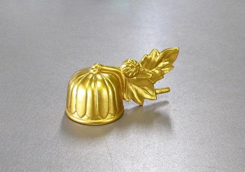 ◆ろーそく消し 京菊ミニ火消し 金色 合金 日本製
