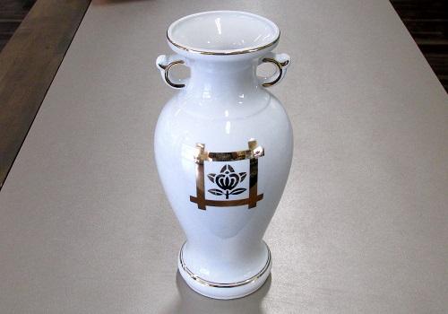 ◇花瓶・サギ型花立 井桁橘サギ 尺0×一対(2本)