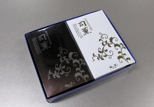 ◆煙のやや少ないお線香 司薫 沈香・白檀大バラ2箱詰合せ 紙箱入