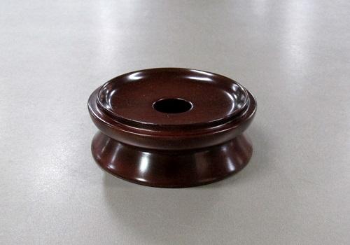 ●木製 丸リン台 2.8寸 紫檀色