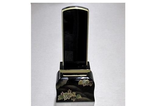 ◆高級蒔絵位牌 手描き蒔絵 波音 4.0寸