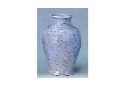 ★花瓶・花立 大理石調夏目花瓶 尺0 グリーン 一対(2本)入