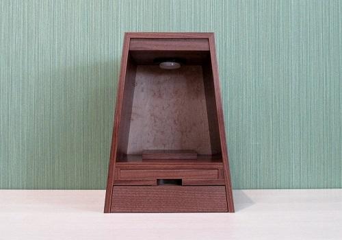 ◆家具調 上置仏壇 ミニ仏壇 ガレ オールナット