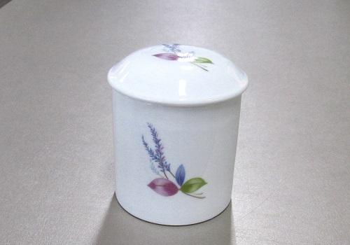 ◆マイリトル花柄骨壺 2.0寸 ラベンダー