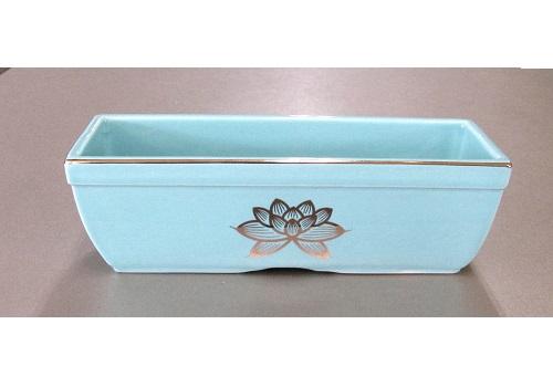 ◆長角香炉 6.0寸 青磁上金ハス×1カートン(10ヶ入)