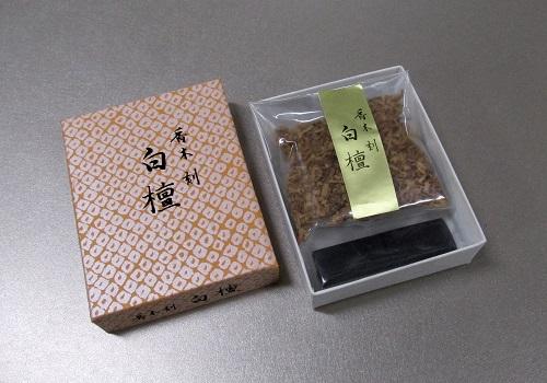 ○焼香セット 香木刻 白檀10g 香炭入(二回分)